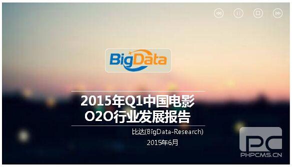 2015年Q1中国电影O2O行业发展报告