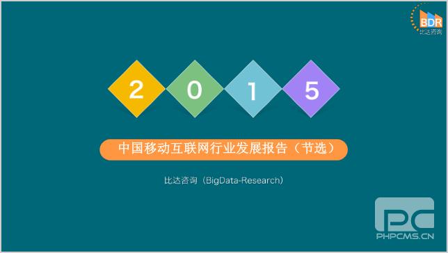 2015年中国移动互联网行业发展报告(节选)