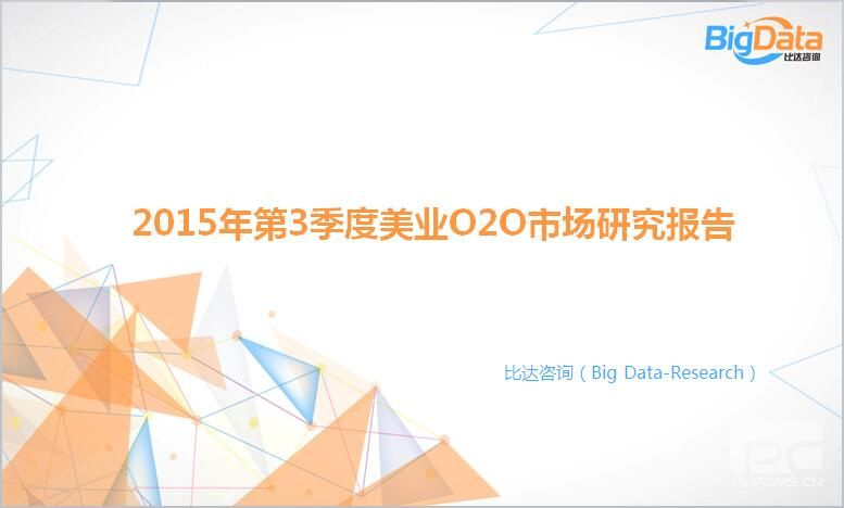 2015年第3季度美业O2O市场研究报告